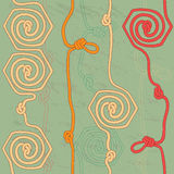 Seamless background with ropes and knots Stock Images
