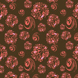 Seamless background with rose abstract elements Royalty Free Stock Photos