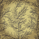 Seamless background with rosemary Royalty Free Stock Photography