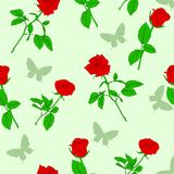 Seamless  background with roses Royalty Free Stock Image