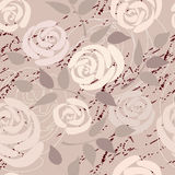 Seamless background of roses. Seamless background pattern. Will tile endlessly Stock Images