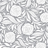 Seamless   background with roses Royalty Free Stock Images