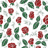 Seamless background with roses Stock Photography