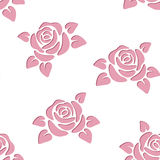 Seamless background with roses. Vector illustratio stock illustration