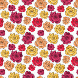 Seamless background with roses - vector pattern. Seamless abstract background with roses - vector pattern, easy editable eps Royalty Free Stock Photos