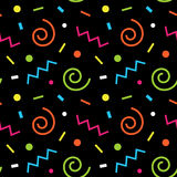 Seamless background 80s Stock Images