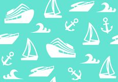 Seamless background of a sailing charter. Vector illustration Royalty Free Stock Photos