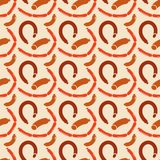 Seamless Background Of Sausages Royalty Free Stock Photography