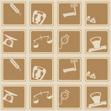 Seamless background with scales weight icons Royalty Free Stock Image