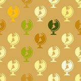 Seamless background with school icons. For your desing royalty free illustration