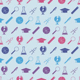 Seamless background with school icons Royalty Free Stock Photography