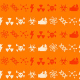 Seamless background with science icons Royalty Free Stock Image