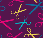 Seamless background with scissors Stock Photo