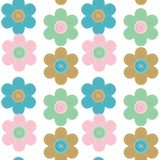 seamless background with scrapbook flowers Stock Image