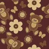 Seamless background with scrapbook objects Royalty Free Stock Image