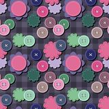 Seamless background with scrapbook objects Royalty Free Stock Photos