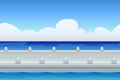 Seamless background of sea pier Stock Images