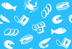 Seamless background from seafood Royalty Free Stock Photo