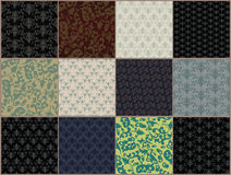 Seamless-background-set. Vector set of high resolution seamless background patterns Stock Photography