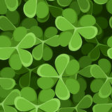 Seamless background with shamrock. Stock Photos