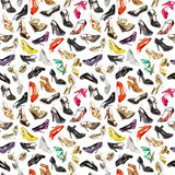 Seamless  background from shoes Royalty Free Stock Image