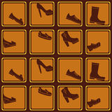 Seamless background with shoes Stock Image