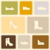 Seamless background with shoes Royalty Free Stock Image