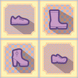 Seamless background with shoes Royalty Free Stock Photos