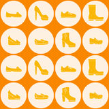 Seamless background with shoes Royalty Free Stock Photo