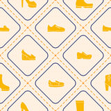 Seamless background with shoes Stock Photos
