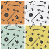 Seamless background - sign weights for fitness or Royalty Free Stock Photography