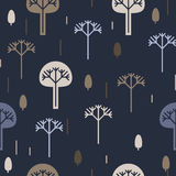 Seamless background, silhouettes of trees Stock Images