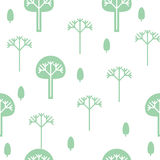 Seamless background, silhouettes of trees Royalty Free Stock Images