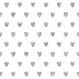 Seamless Background With Silver Hearts Royalty Free Stock Image