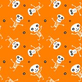 Seamless background with Skeletons Royalty Free Stock Photo