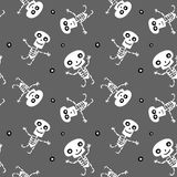 Seamless background with Skeletons Royalty Free Stock Image