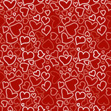 Seamless background with sketchy hearts Stock Photography