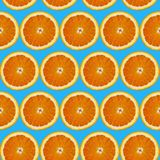 Seamless background of sliced orange Stock Images