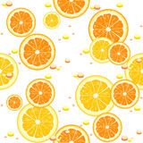 Seamless background with slices of orange Stock Photography