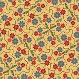 Seamless background with small flowers in nostalgic colors Royalty Free Stock Photography