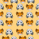 Seamless background with small tigers Stock Images