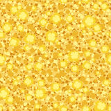 Seamless background with small yellow flowers. Vector illustration. Royalty Free Stock Photography
