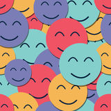 Seamless background with smiles Stock Photos
