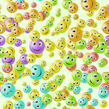 Seamless background with smiles Royalty Free Stock Image