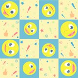 Vector seamless background with smiles Stock Image