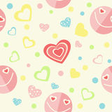 Seamless background with smiles and hearts. Stock Image