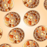Seamless background with snail shells Royalty Free Stock Photo