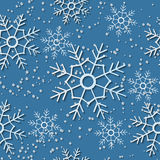 Seamless background with snowfall and snowflakes Stock Images