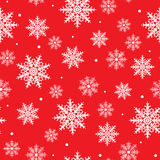 Seamless background with snowflake design Stock Photos