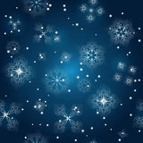 seamless background with snowflakes Stock Image